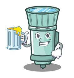 With juice flashlight cartoon character style vector