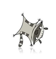 Funny raccoon for your design vector