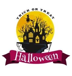 Happy halloween badge and label vector