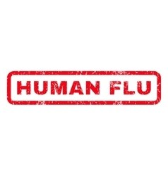 Human flu rubber stamp vector
