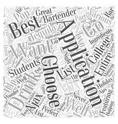 Best applications for college students word cloud vector