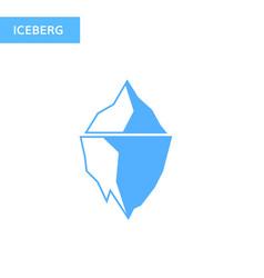 ice berg icon iceberg logo vector image