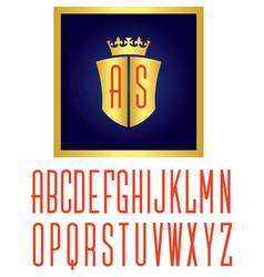 crown shield logo vector image