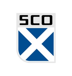 Flag of scotland icon vector