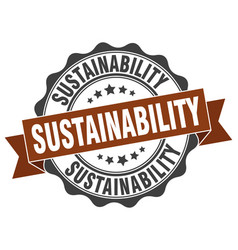 Sustainability stamp sign seal vector