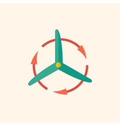 Wind energy flat icon vector