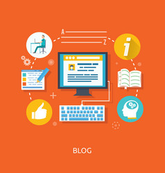 Blogging and writing for website vector