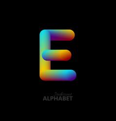 3d iridescent gradient letter e vector
