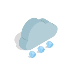 Cloud and hail icon isometric 3d style vector