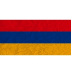 Armenia paper flag vector