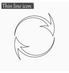 Arrow icon Style thin line vector image