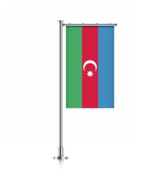 Azerbaijan flag hanging on a pole vector
