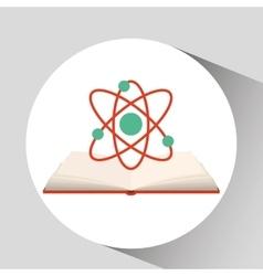 Book open chemistry concept school graphic vector