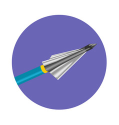 bow arrow icon vector image vector image