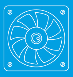 Computer fan cooler icon outline style vector