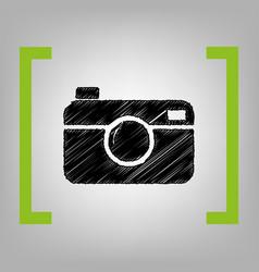 Digital photo camera sign black scribble vector