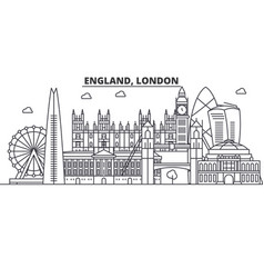 england london architecture line skyline vector image