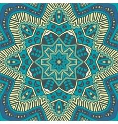 Flower pattern blue background vector
