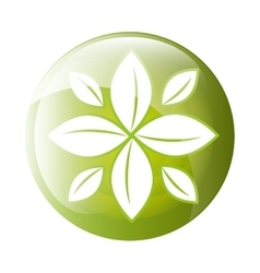 leaves icon symbol design vector image vector image