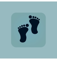 Pale blue footprint icon vector