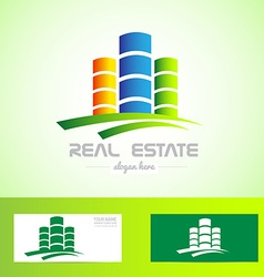 Real estate tower logo vector image