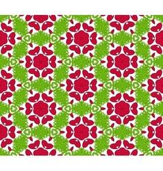 Seamless colorful floral pattern background vector image