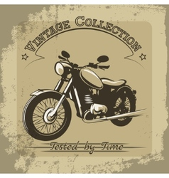 Vintage motorcycle poster vector