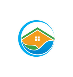 water house icon logo vector image