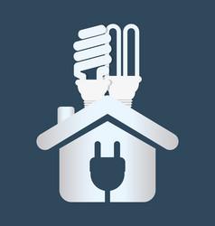 Home energy ecology bulb plug vector
