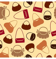 Handbag pattern color vector