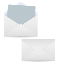 Open and closed white envelopes vector image