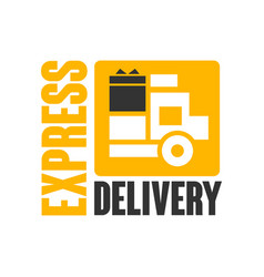 Express delivery logo design template black and vector