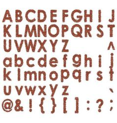 Font of bricks vector
