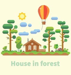 House in forest vector