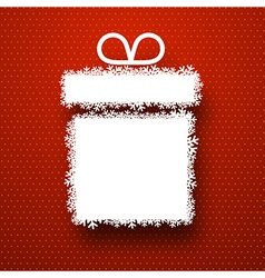 Christmas paper gift over red vector