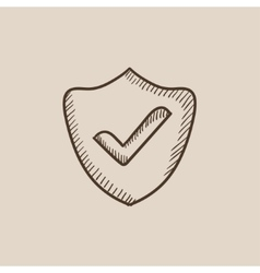 Quality is confirmed sketch icon vector