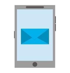 Cellphone with envelope icon vector