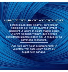 Abstract Deep Blue Background vector image vector image