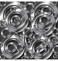 Abstract metallic silver background vector