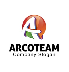 Acro team design vector