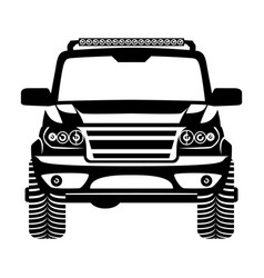 Car 4x4 suv logo vector