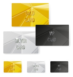 Crystal structure metal premium card collection vector image vector image