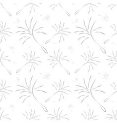 Dandelion seamless pattern vector