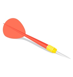 dart on white vector image vector image