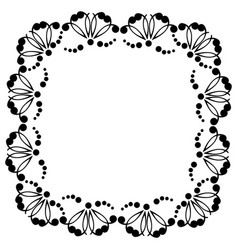 decorative frame with patterns vector image