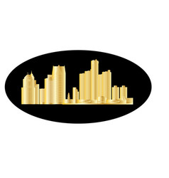 Detroit city skyline vector
