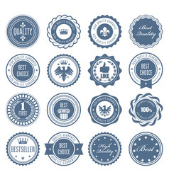 emblems badges and stamps - awards and seals vector image vector image