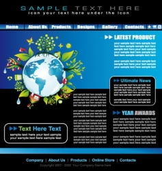 environmental website template vector image