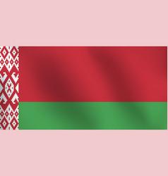flag of belarus - vector image