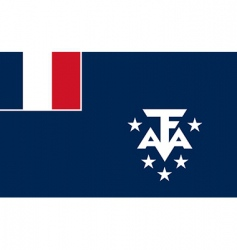 French southern and Antarctic lands flag vector image